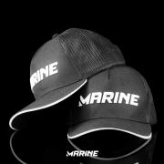 Boné Marine Sports Pescador cor Preto com Tela