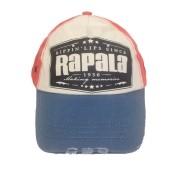 Boné Rapala com Regulagem em Velcro Cor Vermelho, Creme e Azul