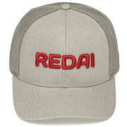 Boné Redai com Tela para Pesca Ajustável material Poliéster cor Cinza 97735e7488b
