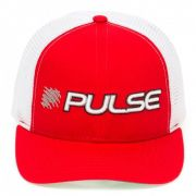 Boné Redai Pulse Vermelho com Tela para Pesca Ajustável material Poliéster