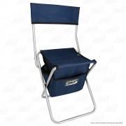 Cadeira Com Bolsa Dobrável para Pesca e Camping Jogá Cor Azul em Aço Suporta até 105 kg