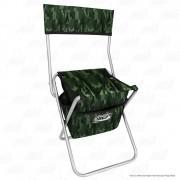 Cadeira Com Bolsa Dobrável para Pesca e Camping Jogá Cor Camuflado em Aço Suporta até 105 kg