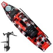 Caiaque de Pesca Iron Milha Naútica Com Leme e Sistema de Pedal Power Drive