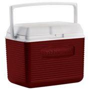 Caixa Térmica Rubbermaid Echolife 9,5 Litros Vermelha com Alça para Transporte