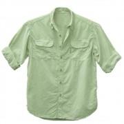 Camisa de Pesca Ballyhoo Crisis Cor Verde Maça Claro Com Filtro UV