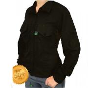 Camisa de Pesca Feminina Mtk Wind com Proteção Solar Filtro UV Cor Preto