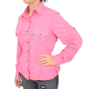 Camisa de Pesca Feminina Mtk Wind com Proteção Solar Filtro UV Cor Rosa