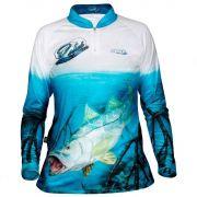 Camiseta de Pesca Jogá Feminina Robalo Proteção UV