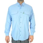 Camisa de Pesca Masculina Mtk Wind com Proteção Solar Filtro UV Cor Azul