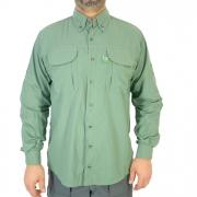 Camisa de Pesca Masculina Mtk Wind com Proteção Solar Filtro UV Cor Chumbo