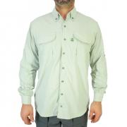 Camisa de Pesca Masculina Mtk Wind com Proteção Solar Filtro UV Cor Prata