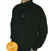 Camisa de Pesca Masculina Mtk Wind com Proteção Solar Filtro UV Cor Preto