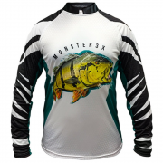 Camiseta de Pesca Monster 3X New Fish 07 Tucunaré 2 com Proteção Solar UV