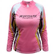 Camiseta de Pesca Monster 3X New Fish Feminina com Proteção Solar UV
