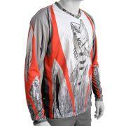 Camiseta de Pesca Mtk Attack com Proteção Solar Filtro UV Cor Tribal