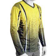 Camiseta de Pesca Mtk Attack com Proteção Solar Filtro UV Cor Yellow