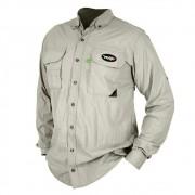 Camisa de Pesca MTK Sky com Proteção Solar e Manga Longa Cor Areia