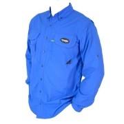 Camisa de Pesca MTK Sky com Proteção Solar e Manga Longa Cor Azul Royal