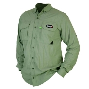 Camisa de Pesca MTK Sky com Proteção Solar e Manga Longa Cor Verde