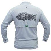 Camiseta de Pesca Maori Tucunaré Faca na Rede Extreme Dry 2 com Fator de Proteção Solar UV 50 Tamanho G