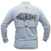 Camiseta de Pesca Maori Tucunaré Faca na Rede Extreme Dry 2 com Fator de Proteção Solar UV 50 Tamanho GG