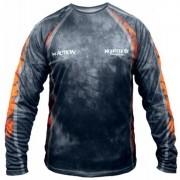 Camiseta de Pesca Monster 3x M-action 01 com Proteção Solar UV +30
