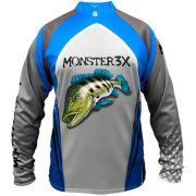Camiseta de Pesca Monster 3X New Fish 03 Tucunaré com Proteção Solar UV