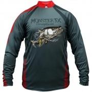 Camiseta de Pesca Monster 3X New Fish 04 Robalo com Proteção Solar UV