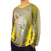 Camiseta de Pesca MTK Attack com Proteção Solar Filtro UV Cor Robalo II