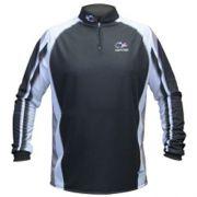 Camiseta de Pesca Shirts Faca na Rede Preta Extreme Dry 2 com Fator de Proteção Solar UV 50 Tamanho M