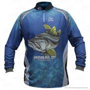 Camiseta de Pesca Shirts Robalo Faca na Rede Extreme Dry 2 com Fator de Proteção Solar UV 50 Tamanho G