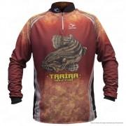 Camiseta de Pesca Shirts Traíra Escura Faca na Rede Extreme Dry 2 com Fator de Proteção Solar UV 50 Tamanho P