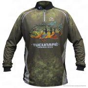Camiseta de Pesca Shirts Tucunaré Faca na Rede Extreme Dry 2 com Fator de Proteção Solar UV 50 Tamanho GG