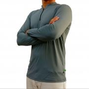 Camiseta Mtk Clean com Proteção Solar Filtro UV Cor Cinza