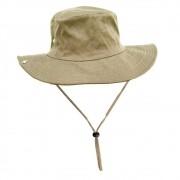 Chapéu de Pesca Safari Jogá com Cinta Fixadora de Pescoço Cor Caqui