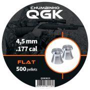 Chumbinho QGK Flat 4,5 mm c/ 500 unidades