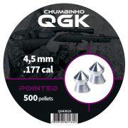 Chumbinho QGK Pointed 4,5 mm c/ 500 unidades