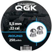 Chumbinho QGK Round 5,5 mm c/ 250 unidades
