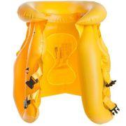 Colete Inflável Nautika Safe Infantil Amarelo com Engate Rápido