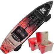 Combo Caiaque Combat Fishing Brudden 30kg Capacidade 210kg + Cooler 30 litros Cor Trio Mandril