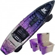 Combo Caiaque Combat Fishing Brudden 30kg Capacidade 210kg + Cooler 30 litros Cor Trio Sakurá