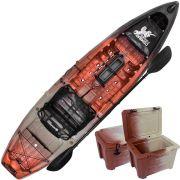 Combo Caiaque Combat Fishing Brudden 30kg Capacidade 210kg + Cooler 30 litros Cor Trio Woods