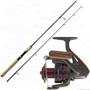 Conjunto de Pesca Vara Hammer LBS 662 SP 1,98m Ação Rápida 15-30lb + Molinete Saturno 4000 Saint Plus