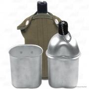 Cantil em Alumínio com Capa Marrom e Copo com Alça Dobravel 900ml Echolife