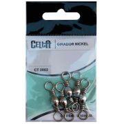 Girador Celta Simples Nickel CT2002 Nº3/0 111lb Cartela com 5un