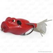 Isca Artificial Speed Popper Bad Line de Borracha com Anti Enrosco Cor SP03 Vermelho