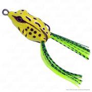 Isca Crazy Frog Yara Lures Sapinho de Borracha Cor 25 Amarelo Tamanho 4,5cm 9g