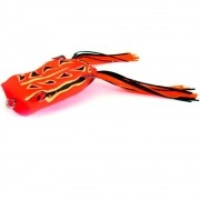 Isca Marine Sports Art Popper Frog Sapinho Cor F02 Laranja com Traços Pretos