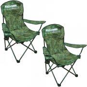Kit Cadeira Dobrável para Pescaria ou Acampamento com Porta Copos XD-07 Marine Sports 2un