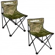 Kit Cadeira Dobrável para Pescaria ou Acampamento XD-03 Marine Sports 2un